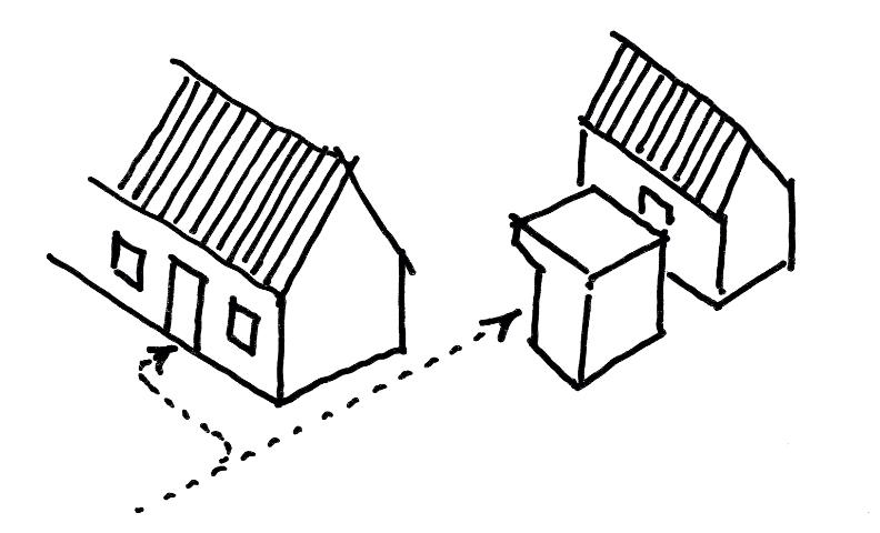 HK2, Sanierung und Erweiterung eines Siedlungshauses mit Stall, 2008-2009, realisiert