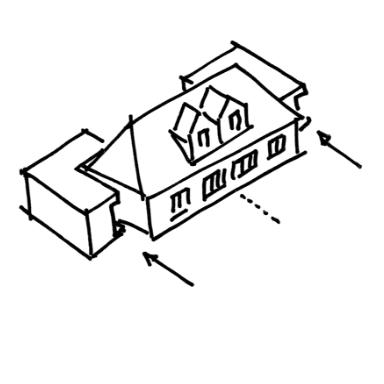 GFS15 und 15a, Sanierung und Erweiterung eines Doppelhauses aus den 1920er Jahren, 2006-2008, realisiert